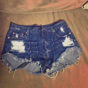 Brand new cut off denim shorts